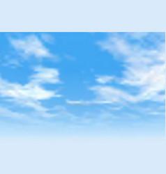 Blue cloudy sky vector