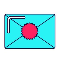 bright envelope icon vector image