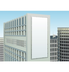 Building Cityscape Advertising Site Composition vector image