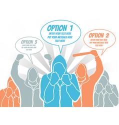 businessman option template step ranking orange 4 vector image
