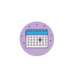 Calendar reminder detailed style icon vector
