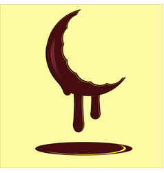 chocolate moon vector image