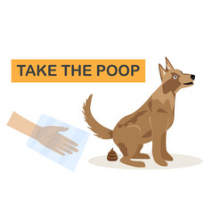 Clean up after your dog a vector