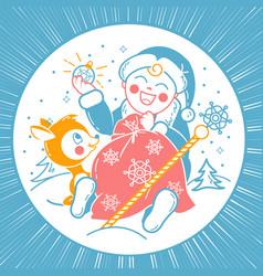 concept of santa claus child vector image