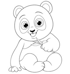 cute funny little panda baby vector image