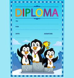 Diploma design image 7 vector