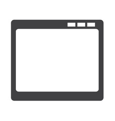 Empty window screen vector