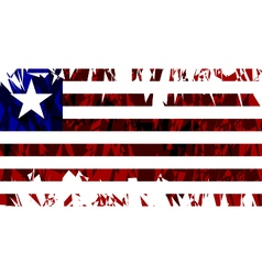 Flag of liberia vector