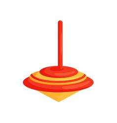 flat icon of bright red-orange whirligig vector image