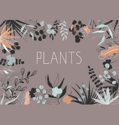 floral in trendy continuous vector image