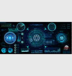 Futuristic concept hud gui style screen vector