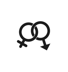 gender icon in trendy flat style isolated on vector image