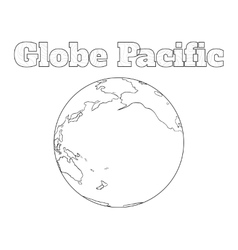 Globe Pacific view vector