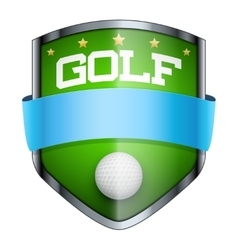 Golf Shield badge vector image