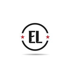 initial letter el logo template design vector image