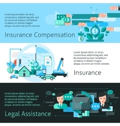 Insurance And Risk Banners Set vector