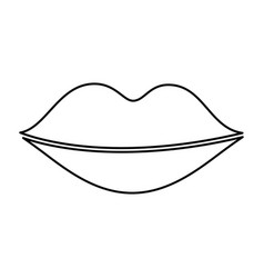 lips female drawing icon vector image