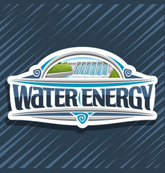 logo for water energy vector image