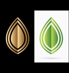 luxury leaf vector image