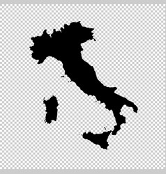 map italy isolated black on vector image