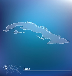 Map of Cuba vector