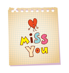 miss you vector image