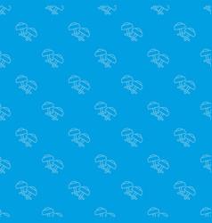 modern earrings pattern seamless blue vector image