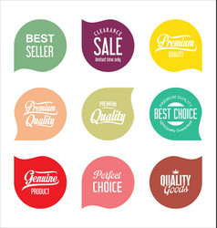 modern sale badges collection 7 vector image