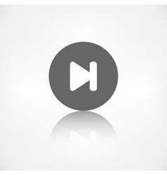 Next track web iconMedia player vector