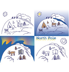 north pole chukchi vector image