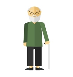 Old man or grandfather vector