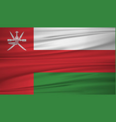 oman flag flag of oman blowig in the wind eps 10 vector image
