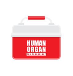 organ transplantation concept vector image