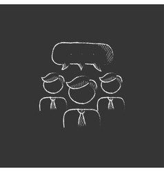 People with speech square above their heads Drawn vector image