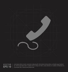 phone receiver icon - black creative background vector image