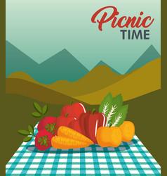 Picnic time design vector