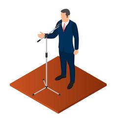Political orator icon isometric style vector