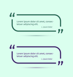 quotation brackets line frames templates vector image
