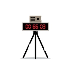 Road traffic recorder speed photo and video vector