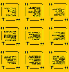 Set of motivational quotes about wisdom vector