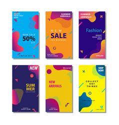 Set sale banner background with fluid gradient vector