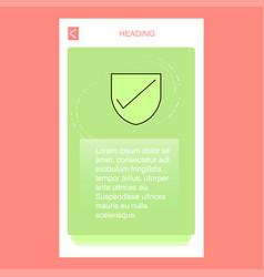 Sheild mobile vertical banner design design vector