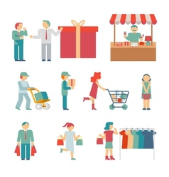 Shopping Characters vector