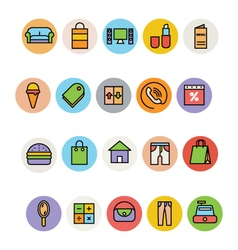 Shopping Icons 6 vector image