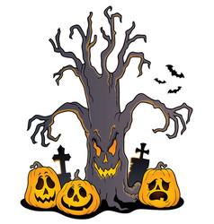 Spooky tree topic image 5 vector