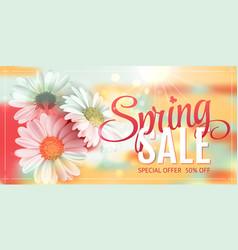 spring sale concept orange background vector image