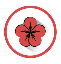 Symbol round beauty flower decoration vector