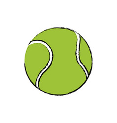 Tennis ball sport competition element vector