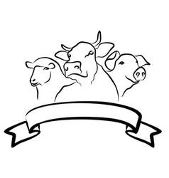 The farm logo vector
