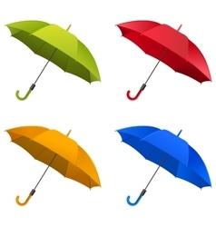 Umbrella Set vector image